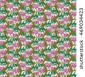 seamless flower pattern with... | Shutterstock .eps vector #469034423