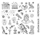 Alchemy Set. Hand Drawn Doodle...