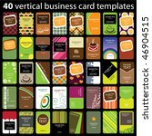40 colorful vertical business... | Shutterstock .eps vector #46904515