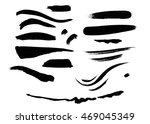 ink smears collection | Shutterstock . vector #469045349