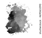 abstract watercolor grayscale... | Shutterstock .eps vector #469061090