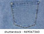 Blue Denim Jeans Back Pocket