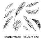 the feathers on a white... | Shutterstock .eps vector #469075520
