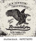 american motorcycle emblem... | Shutterstock .eps vector #469076090