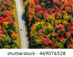 Aerial View Of A Car Driving O...