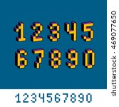 vector digits  numerals created ... | Shutterstock .eps vector #469077650