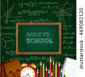 back to school background with...   Shutterstock .eps vector #469082120