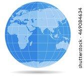 globe earth symbol flat icon...   Shutterstock . vector #469084634