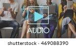 media audio player blog concept   Shutterstock . vector #469088390