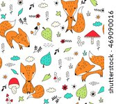 vector illustration with cute... | Shutterstock .eps vector #469090016