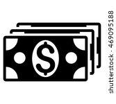 dollar banknotes icon. vector...   Shutterstock .eps vector #469095188