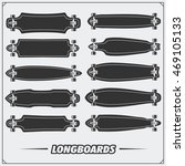 collection of longboard types. | Shutterstock .eps vector #469105133