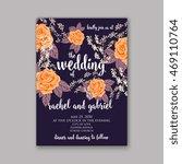 beautiful wedding floral vector ... | Shutterstock .eps vector #469110764