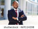 smiling african businessman... | Shutterstock . vector #469114208
