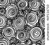 vector seamless doodle swirl... | Shutterstock .eps vector #469116710
