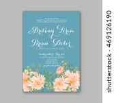 beautiful wedding floral vector ...   Shutterstock .eps vector #469126190
