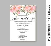 beautiful wedding floral vector ... | Shutterstock .eps vector #469126226