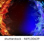red and blue smoke | Shutterstock .eps vector #469130639