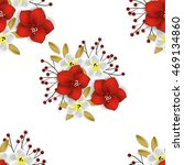 seamless pattern with abstract... | Shutterstock .eps vector #469134860