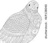 stylized dove or pigeon bird ... | Shutterstock .eps vector #469138040
