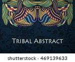 vector tribal abstract... | Shutterstock .eps vector #469139633