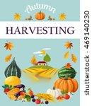 harvesting. thanksgiving day.... | Shutterstock .eps vector #469140230