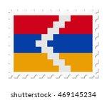 stamp flag nagorno kara | Shutterstock .eps vector #469145234