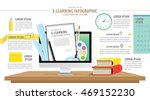 illustration e learning... | Shutterstock .eps vector #469152230