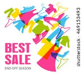 best sale. clothing and shoes.... | Shutterstock .eps vector #469153493