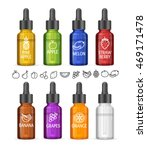 colorful e liquid bottle set... | Shutterstock .eps vector #469171478