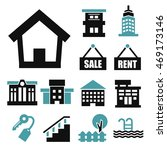 buying home icon set | Shutterstock .eps vector #469173146