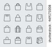 shopping bag line icon | Shutterstock .eps vector #469173308