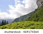 Small photo of Alpine glacier mountains in switzerland