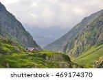 alpine house in the mountain of ... | Shutterstock . vector #469174370