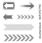 halftone arrows.dotted arrow... | Shutterstock .eps vector #469192790