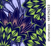 seamless floral background.... | Shutterstock .eps vector #469196213