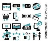 ecommerce icon set | Shutterstock .eps vector #469198010
