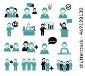 employee  employees icon set | Shutterstock .eps vector #469198130