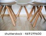 modern chair detail on wooden... | Shutterstock . vector #469199600