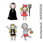 set of halloween characters....   Shutterstock .eps vector #469202018