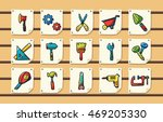 worker tools icons set eps10 | Shutterstock .eps vector #469205330