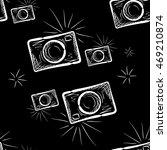 hand drawn photo camera on... | Shutterstock .eps vector #469210874