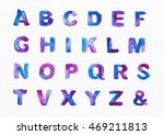 alphabet painted watercolor ... | Shutterstock . vector #469211813