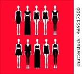set of women's clothes drawn in ... | Shutterstock .eps vector #469217300