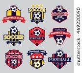 soccer badges | Shutterstock .eps vector #469220090