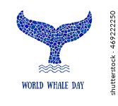 world whale day poster. mosaic... | Shutterstock .eps vector #469222250