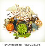 halloween 3d vector invitation | Shutterstock .eps vector #469225196