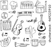 object music pack doodles... | Shutterstock .eps vector #469225910
