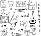 object music pack doodles... | Shutterstock .eps vector #469225910