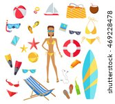 accessories for the summer... | Shutterstock . vector #469228478